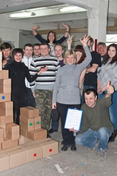Сотрудники Фламинго строили дом - корпоративная игра