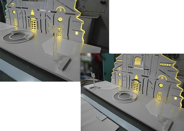 Акрилайт, световая панель ювелирного салона