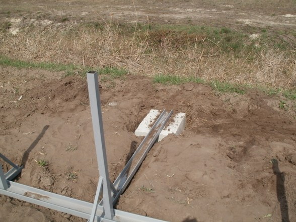Монтаж металлического каркаса и заливка бетонного фундамента