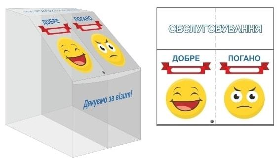 Пластиковый короб отзывов клиентов для торговых сетей, магазинов