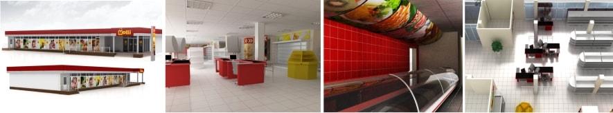 Разработка дизайна фасада, интерьера