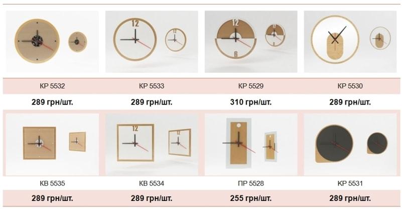 Вартість, ціна дизайнерських настінних годинників з логотипом компанії