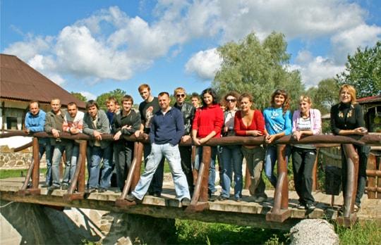 Коллектив РГ Фламинго на праздновании 15-летия