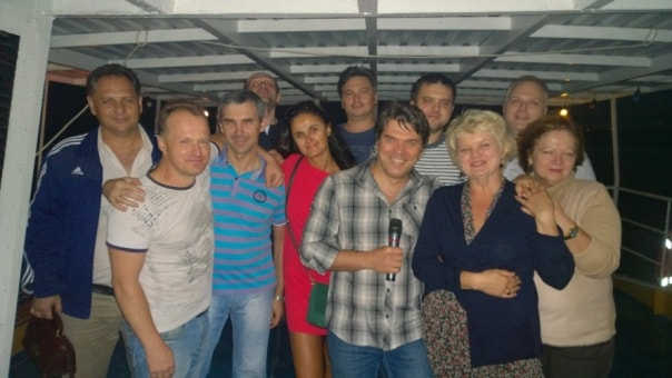 Коллектив РГ Фламинго на праздновании 20-летия