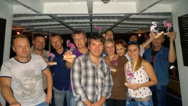 Награждение лучших сотрудников РГ Фламинго