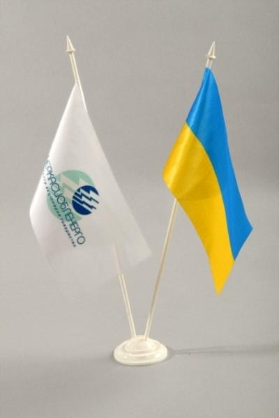 Корпоративні, настільні прапорці з логотипом