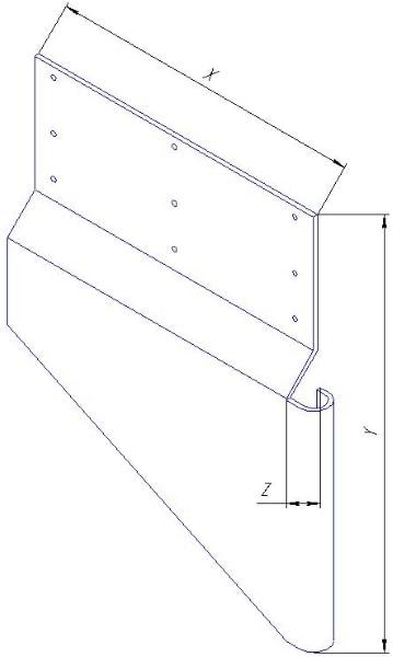 Защита, защитный экран эскалатора не стандартных размеров