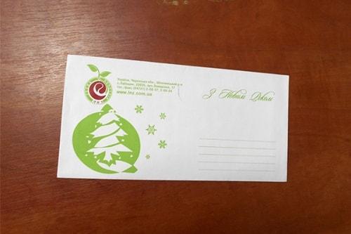 Печать, изготовление корпоративных конвертов с логотипом