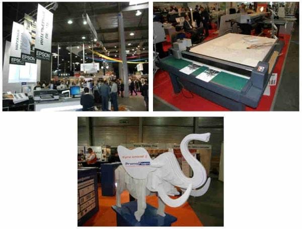 Рекламная группа Фламинго на выставке REX 2012