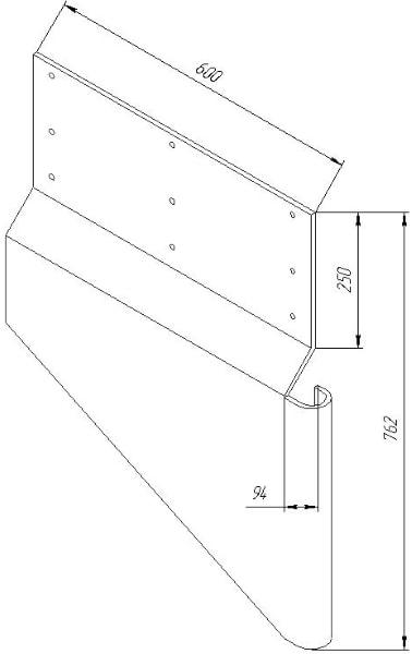 Размер защиты для эскалатора стандартных размеров