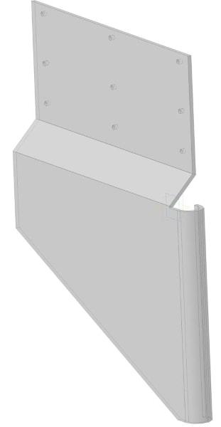 Защитный экран для эскалатора