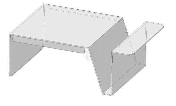 Прозрачный столик для ноутбука из акрила, оргстекла, пластика - модель LTAM