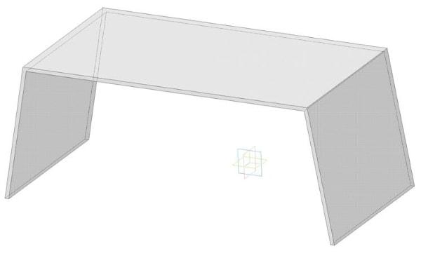 Акриловый, пластиковый прозрачный столик для ноутбука - модель LTAM