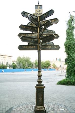 Туристический указатель направлений - городская навигация