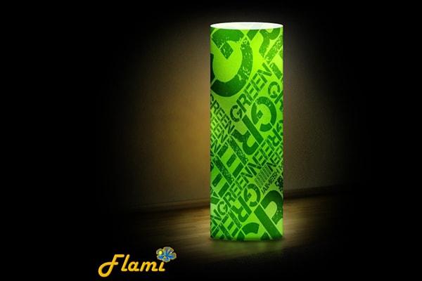 Декоративний дизайнерський світильник Flami - Green