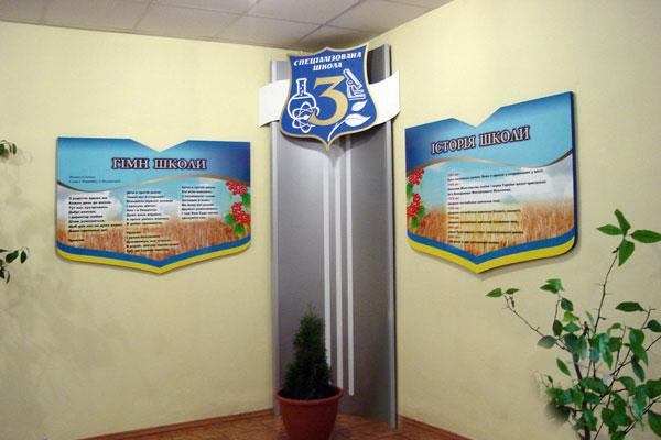 Фігурні настінні стенди для школи