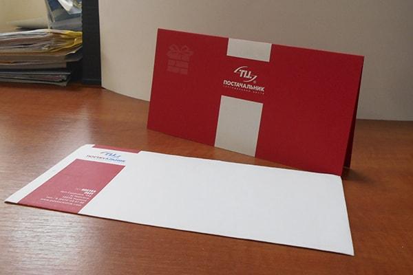 Корпоративные открытки и конверты с логотипом