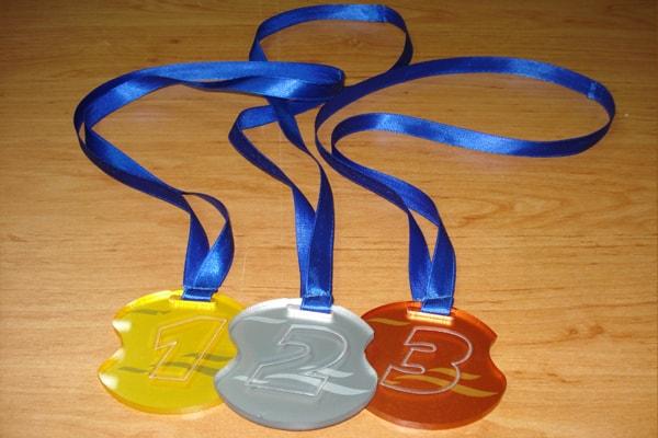Наградные медали из акрила, оргстекла