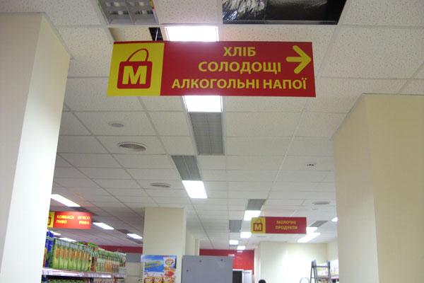Навігаційна табличка в магазині