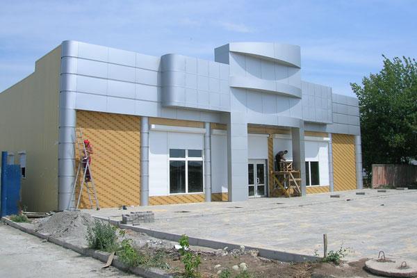 Облицовка фасада алюминиевыми композитными панелями