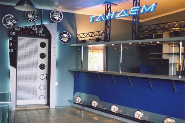 Оформление интерьера кафе-бара