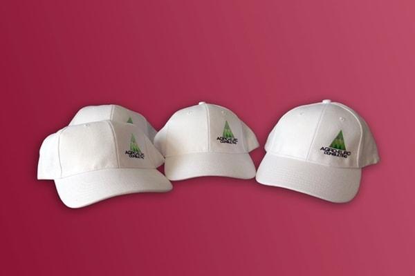 Друк логотипа на кепках, бейсболках