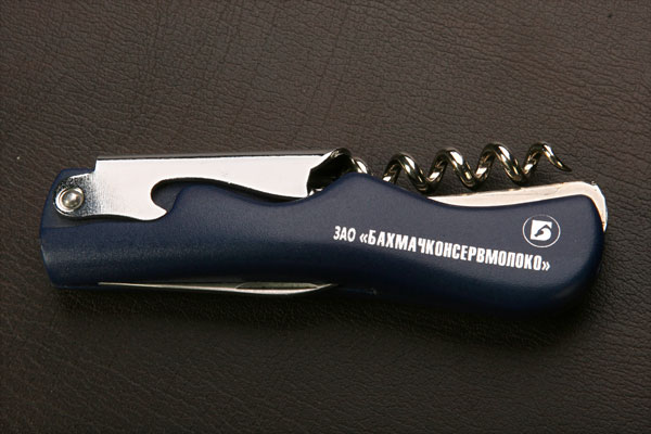 Печать логотипа на ноже