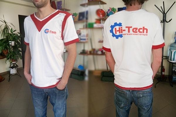 Печать на футболках логотипа, символики