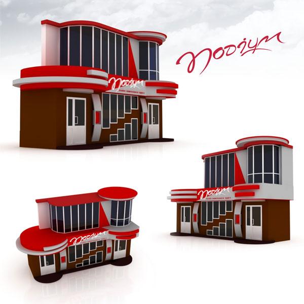 Разработка дизайна фасада магазина, салона свадебной одежды