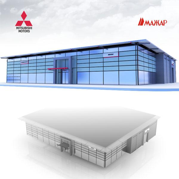 Разработка дизайна фасада автомобильного центра
