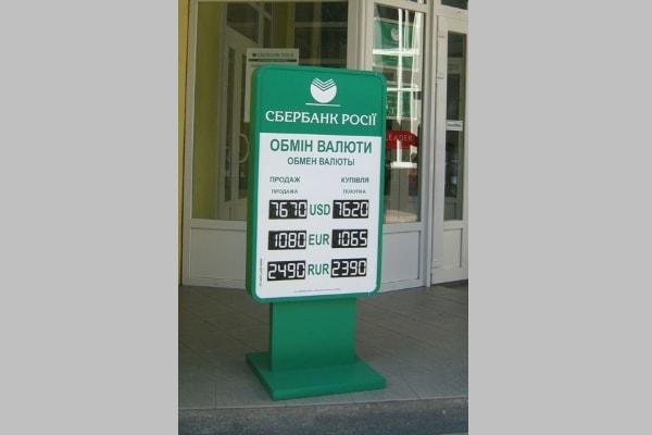 Штендер объемной формы - курс валют