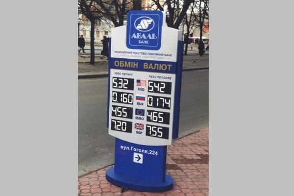 Тротуарная установка объемной формы - курс валют