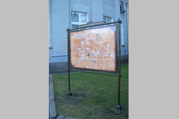 Туристический стенд - навигация в городе