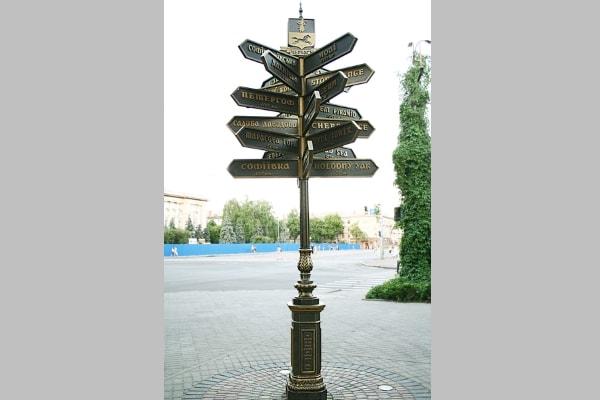 Туристический указатель направления - навигация в городе