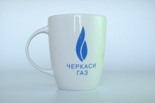 Брендування керамічних чашок логотипом