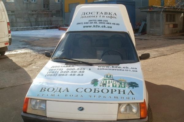 Оклейка рекламой служебного автомобиля