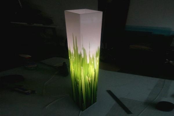 Дизайнерский светильник из акрила - Трава