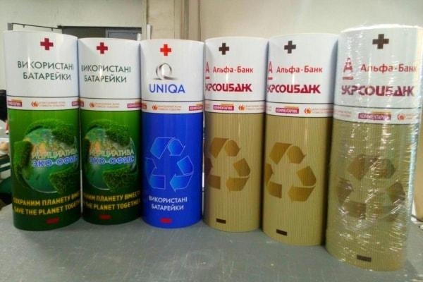 Изготовление контейнеров для использованных батареек