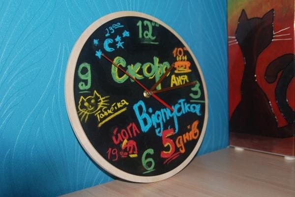 Настенные часы для рисования мелом - грифельные часы