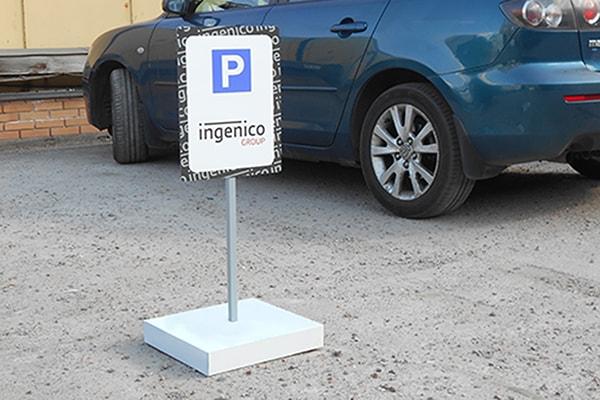 Мобильная переносная парковочная табличка для бизнес центра