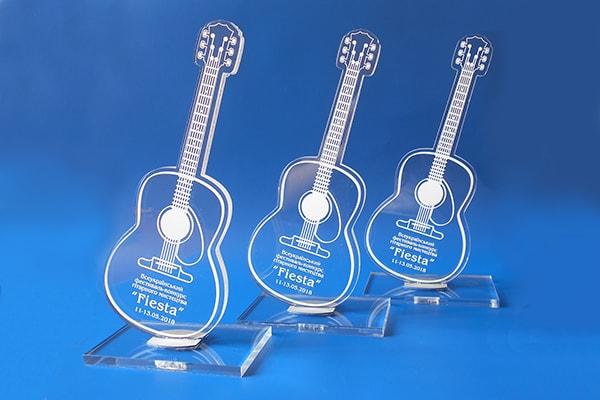 Наградные кубки, статуэтки для музыкального фестиваля гитарного искусства Фиеста, г. Черкассы