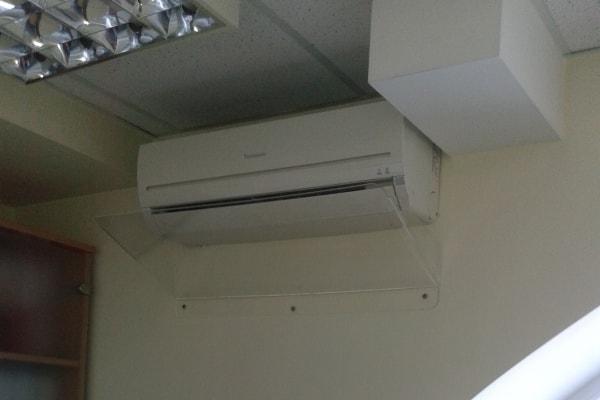 Защитный экран, отбойник холодного воздуха для кондиционера