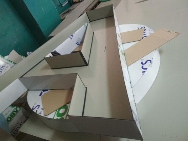 Виготовлення об'ємних літер із композиту, алюмінієвої композитної панелі