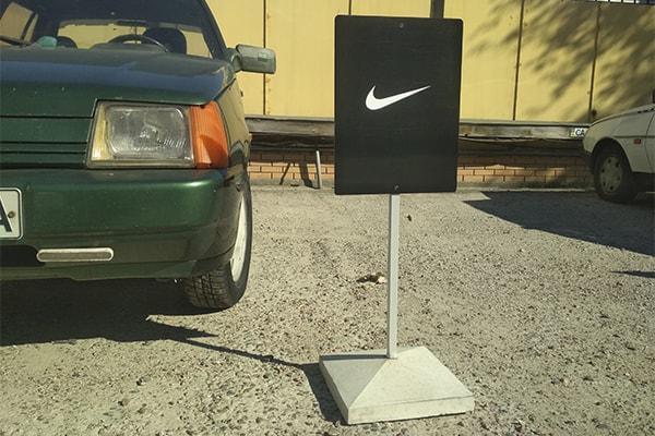 Изготовление переносного знака для парковки на металлической ножке