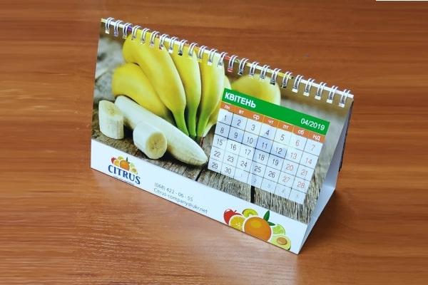 Настольный перекидной календарь с логотипом, корпоративной символикой