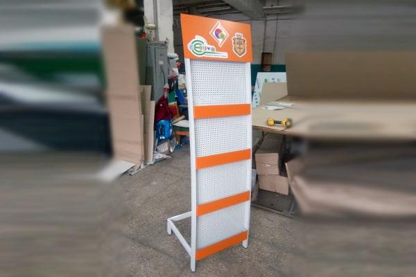 Стенд, стойка для полиграфии, печатной продукции с логотипом организации