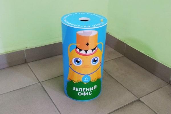 Пластиковые контейнеры, боксы для сбора и хранения отработанных батареек в офис