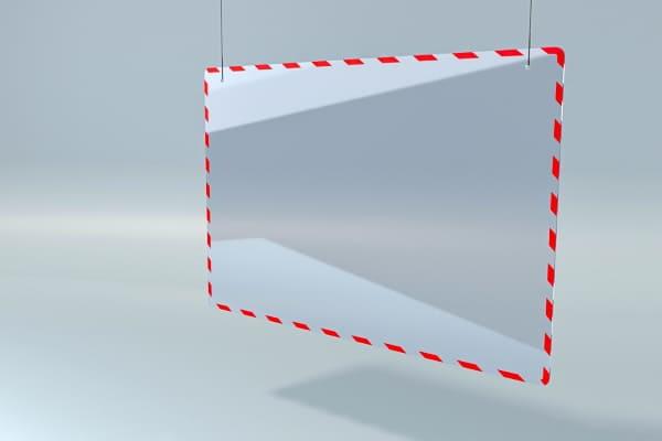 Защита от вирусов - прикассовая перегородка, барьер для кассовой зоны магазина ZB 007 1200*800мм