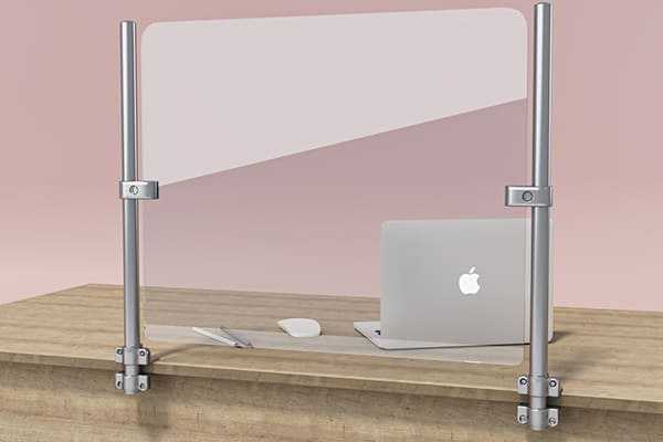 Защитная перегородка, экран для рабочего стола ZB 008 600*500мм